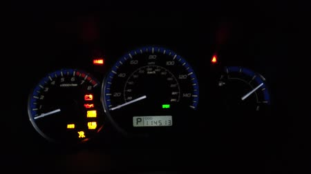 mph : Car Dashboard With Speedometer