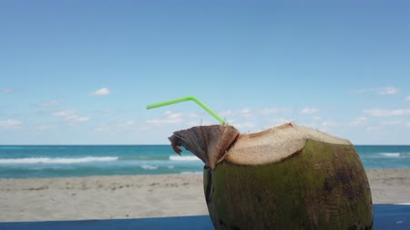 cubano : Coconut on sandy beach of Varadero, Cuba