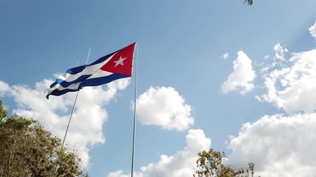 embléma : A Cuban Flag Waving In The Wind