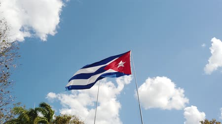 socialismo : A Cuban Flag Waving In The Wind
