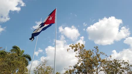 socialism : A Cuban Flag Waving In The Wind