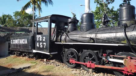origin : Old Museum locomotive somewhere in Cuba Stock Footage