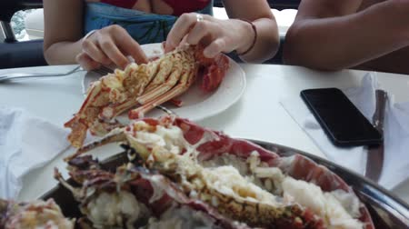 osztriga : Just cooked a fresh lobster. People eat lobster on the boat. Rocking the boat