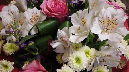 piwonie : Beautiful bouquet of flowers. Multi-colored flowers close-up. Festive mood.