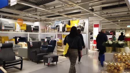 ikea : MOSCOW, RUSSIA - NOVEMBER 17, 2019: People in largest furniture retailer IKEA showroom.