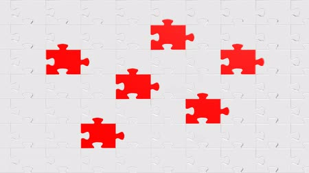 jigsaw : fill the cell Stock Footage
