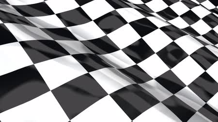 versenyez : Checkered racing flag - seamless looping Stock mozgókép