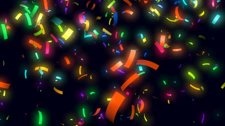 arife : Animation of colorful confetti falling Stok Video
