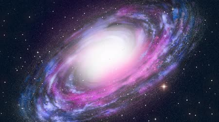 alkotás : Spiral Galaxy animation  Stock mozgókép