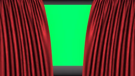 kinyit : Opening red cinema curtains
