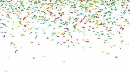 fosco : Animation of colorful confetti with alpha mask Stock Footage