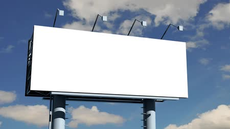 sem nuvens : Billboard with empty screen