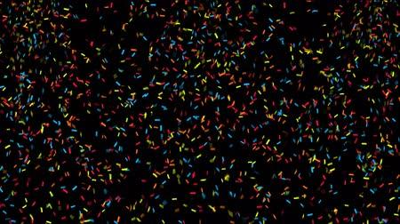 Animation of colorful confetti falling Filmati Stock