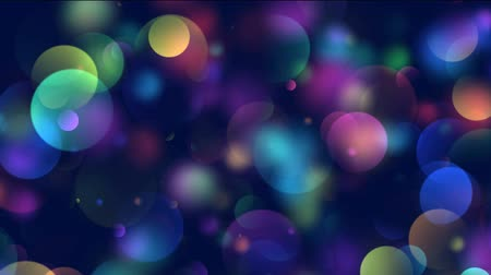 оформление : Animation of colorful circles, bokeh background