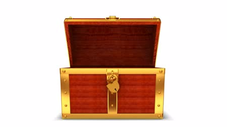 tesouro : Wooden treasure chest with alpha matte