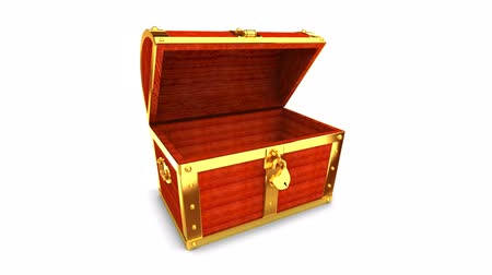 cadarço : Wooden treasure chest with alpha matte