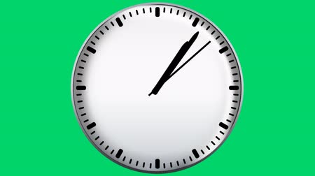clock hands : Clock on green screen, seamless loop animation