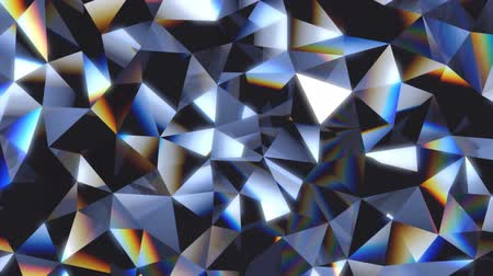 glass structure : Abstract crystal facet background animation