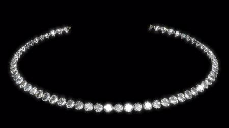 naszyjnik : Gem stone necklace, seamless loop animation