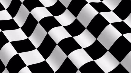 гонка : Checkered Racing Flag - 3d animation, seamless loop Стоковые видеозаписи