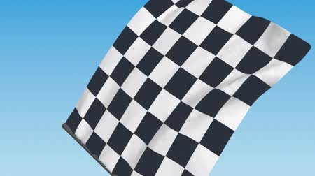 formuła : Checkered Racing Flag - 3d animation, seamless loop Wideo