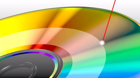romênia : CD or DVD disk, data recording, with laser Stock Footage