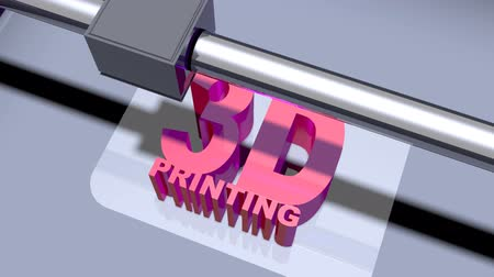 impressão digital : 3D Printing sequence animation new technology