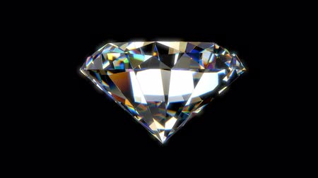 realeza : Beautiful Diamond Seamless loop animation with alpha matte Vídeos