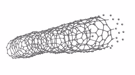 tubular : Abstract carbon nanotubes 3d animation Stock Footage