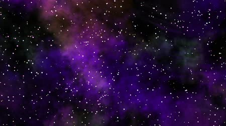 light : Blinking stars with colorful nebula animation Stock Footage