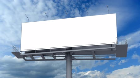 billboards : Blank billboard against blue sky Stock Footage