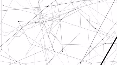 estruturas : Connection structure, 3d animation abstract background Stock Footage