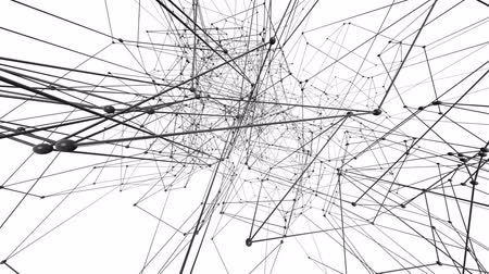 geometric : Connection structure, 3d animation abstract background Stock Footage