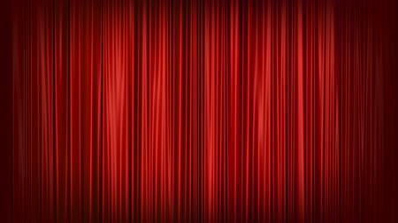 aydınlatma : Red curtain animation background Stok Video