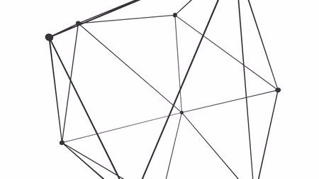 geometric : Stable abstract geometric polygonal structure, 3d animation