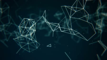 связь : Connection structure, 3d animation abstract background Стоковые видеозаписи