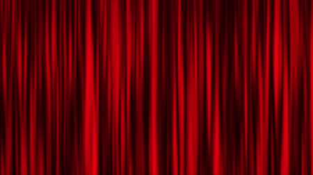 perdeler : Red curtain animation background Stok Video