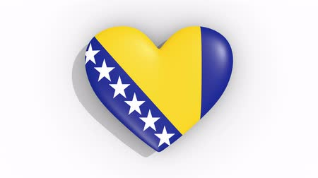 bosnia and herzegovina : Heart in colors flag Bosnia and Herzegovina, loop