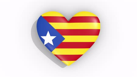 amoroso : Heart in colors flag blue Estelada pulses, loop. Vídeos