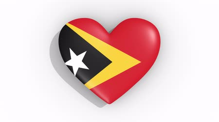 amoroso : Heart in colors flag of East Timor pulses, loop.