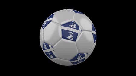 cobra : Soccer ball with flag Martinique colors rotates on transparent background, 3d rendering, 4k prores footage with alpha channel, loop Vídeos