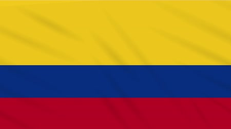 bogota : Colombia flag waving cloth, ideal for background loop