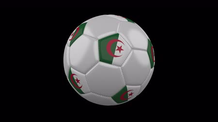 algeria : Soccer ball with flag Algeria, 3d rendering, rotation loop