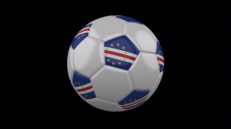 pentágono : Soccer ball with flag Cape Verde, 3d rendering, rotation loop