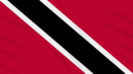 oficial : Trinidad and Tobago flag waving cloth, ideal for background loop