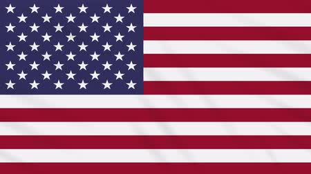 végső : United States of America flag waving cloth, ideal for background loop