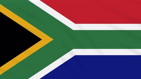 oficial : South Africa flag waving cloth, ideal for background loop