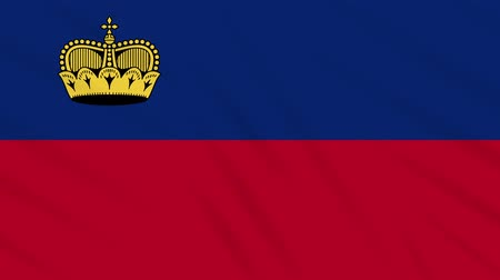 monarchie : Liechtenstein flag waving cloth, ideal for background, loop