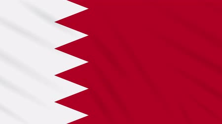 monarchie : Bahrain flag waving cloth, ideal for background, loop