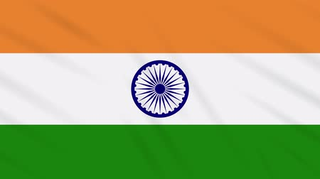 národní vlajka : India flag waving cloth, ideal for background, loop